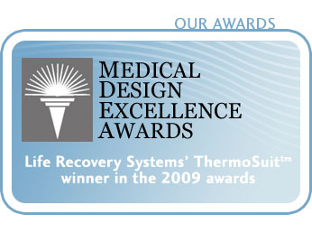 The ThermoSuit winner of a 2009 Medical Design Excellence Award.